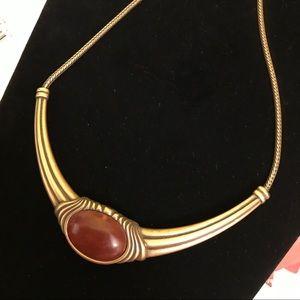 Monet Choker Collar Necklace Art Deco Style